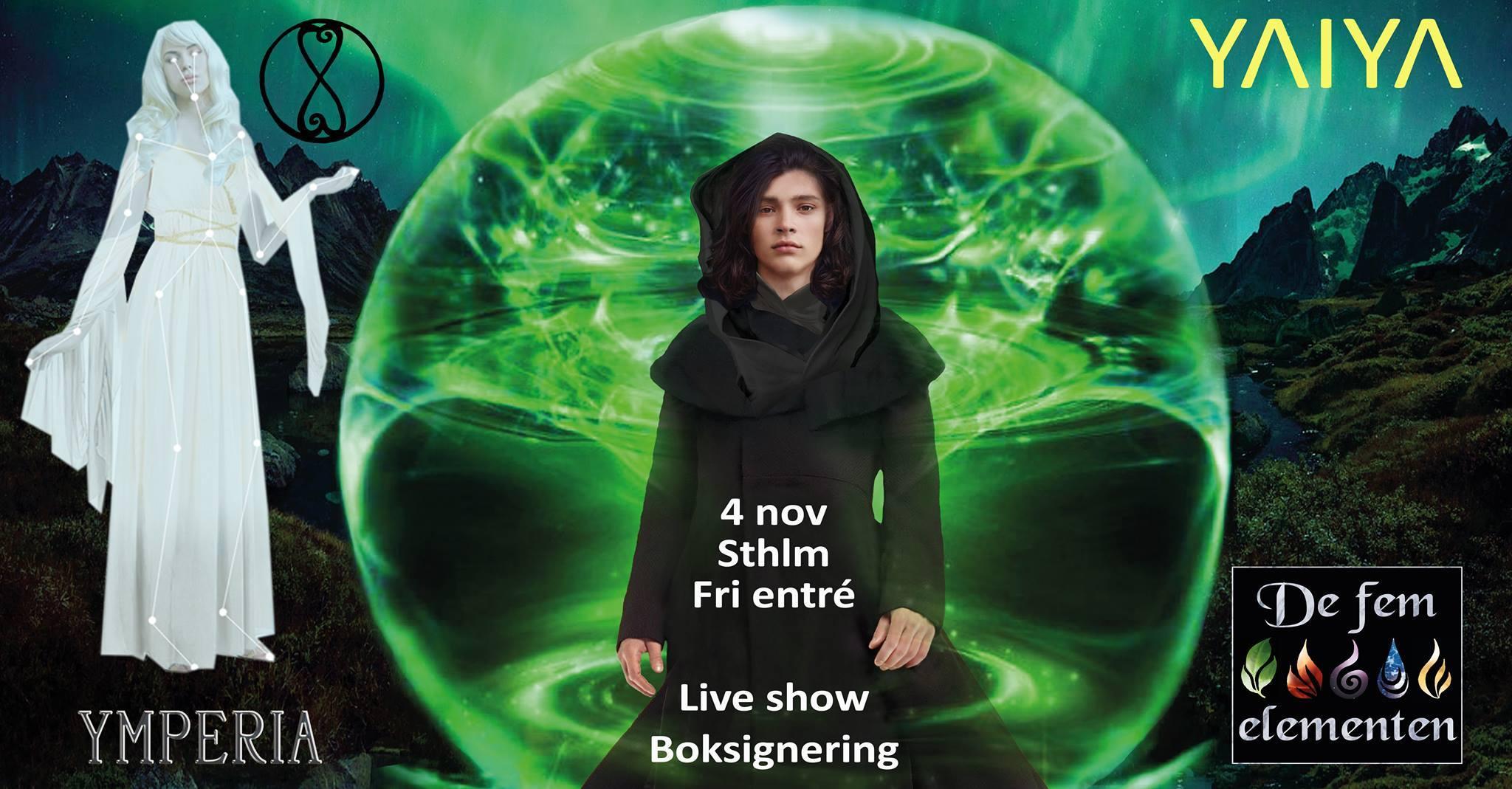 Boksläpp 4 november i Sthlm, om de fem elementen! Fri entré!